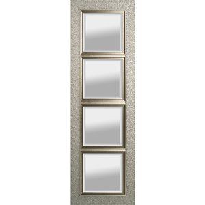 Images 2000 Silver Frame Rectangle Framed Wall Mirror