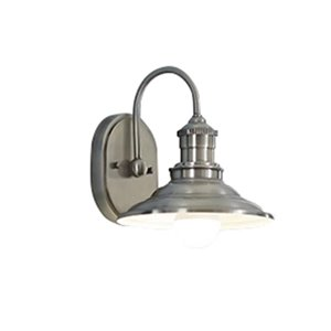 Allen Roth Hainsbrook 1 Light Antique Pewter Cone Vanity