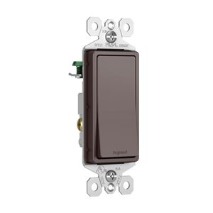 Legrand 15-Amp TradeMaster Dark Bronze Single Pole Decorator Light Switch