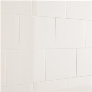 American Olean 10-in x 14-in Starting Line Gloss White Glossy Ceramic Wall Tile