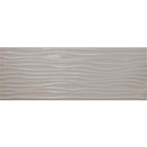 American Olean Starting Line 4-in x 12-in Light Smoke Ceramic Wall Tile
