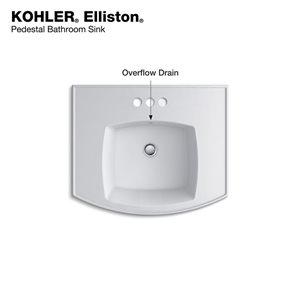 kohler elliston pedestal bathroom sink basin with 4-in