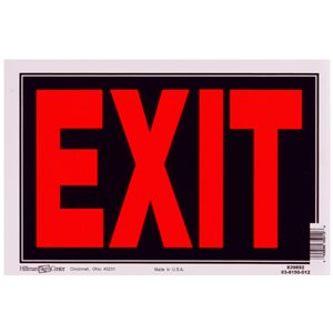 Hillman 8-in x 12-in Exit Sign