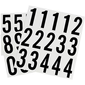 Hillman 2-in Black and White Vinyl Number Pack