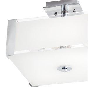 Kichler 2-Light Chrome Frosted Glass Semi-Flush Mount Light