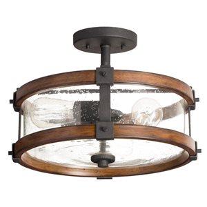 Kichler Barrington 14.02-in Semi-Flush Mount Light