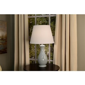 allen + roth 11-in x 15-in White Fabric Cone Lamp Shade