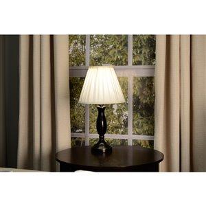 allen + roth 8-in x 10-in Cream Fabric Cone Lamp Shade