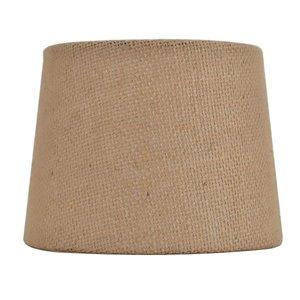 allen + roth 4.5-in x 6-in Tan Burlap Fabric Drum Lamp Shade