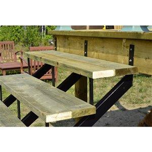 Powder-Coated Steel 4-Step Stair Frame