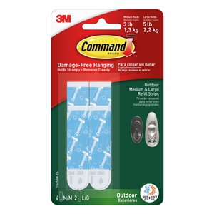 3M 6-Pack Command Outdoor Medium and Large Foam Refill Strips