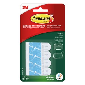 3M 16-Pack Command Outdoor Small Foam Refill Strips