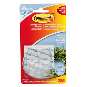 Command 2-Pack Command Clear Medium Hooks