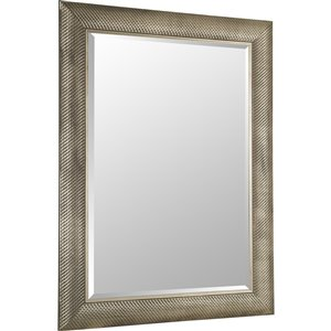 Images 2000 Silver Knotted Square Framed Wall Mirror