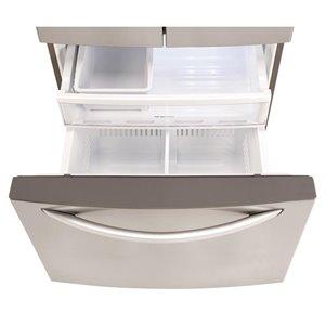 LG 24.2-cu ft 3-Door Standard-Depth French Door Refrigerators Single Ice Maker (Stainless Steel) ENERGY STAR