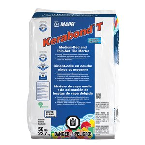 MAPEI 22.7kg Kerabond T Premium Medium-Bed and Thin-Set Tile Mortar
