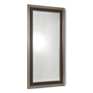 Tribeca Silver and Brown Framed Leaner Mirror