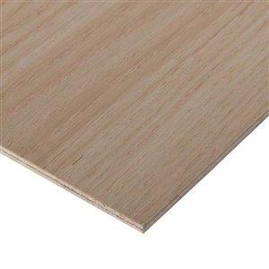 Cutler 1/4 x 2-ft x 4-ft Oak Plywood