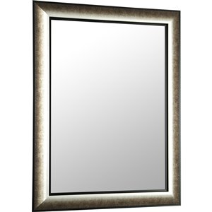 Images 2000 Silver and Brown Blend Square Framed Wall Mirror