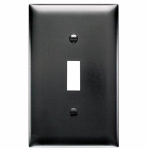 Legrand Trademaster 1-Gang Toggle Wall Plate (Black)