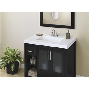 Style Selections 37-in White Cultured Marble Integral Bathroom Vanity Top