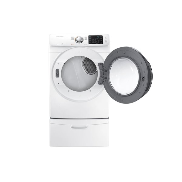 Samsung 7 5 Cu Ft Stackable Electric Dryer White Lowe S Canada