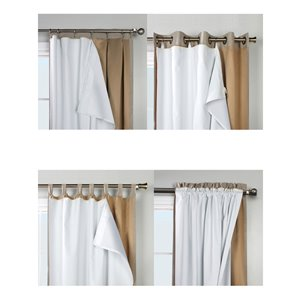 Thermalogic 88-in White Polyester Grommet Blackout Thermal Lined Single Curtain Panel