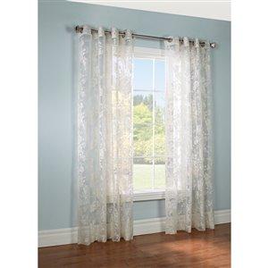 Legacy 84-in Linen Polyester Grommet Sheer Single Curtain Panel