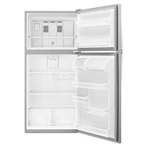 Whirlpool 29-in 18.2-cu ft Top-Freezer Refrigerator (Stainless Steel)