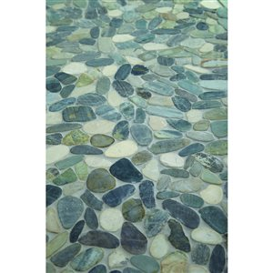 American Olean Delfino Stone Paradise Blend Honed Natural Stone Mosaic Indoor/Outdoor Wall Tile (Common: 12-in x 12-in; Actual: 12.5-in x 12.5-in)