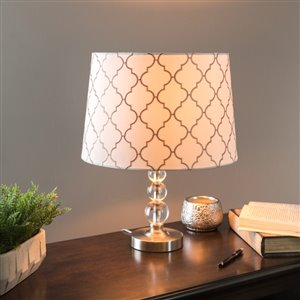 allen + roth 13-in Clear Lamp Base