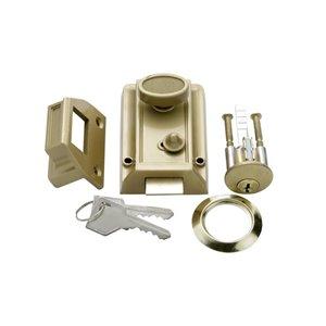 First Watch Securekey Key Control Deadbolt (Polished Brass)