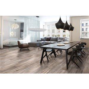 Style Selections 9-in x 36-in Savanna Linen Glazed Porcelain Floor Tile