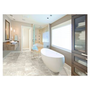 American Olean 12-in x 24-in Moraine Lake Chenille Glazed Porcelain Floor Tile