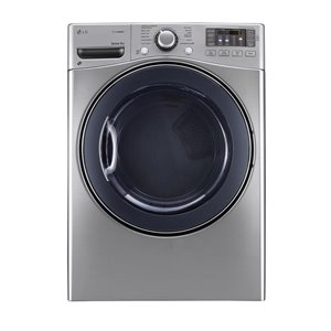 LG 7.4-cu ft Stackable Electric Steam Dryer (Graphite)
