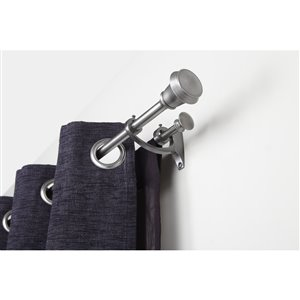 Umbra 48-in to 88-in Pewter Metal Single Curtain Rod