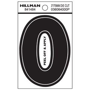 Hillman 3-in Black Vinyl Die-Cut Numbers