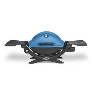 Weber Q 1200 Blue Cast Aluminum 8,500-BTU 189-sq in Portable Gas Grill