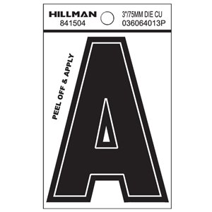 "3-in Black House Letter ""A"""