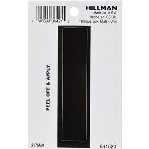 Hillman 3-in Black House Letter