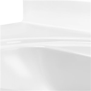 White Cultured Marble Integral Bathroom Vanity Top (Common: 61-in x 22-in; Actual: 61-in x 22-in)