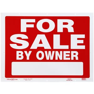 Hillman 18-in x 24-in for Sale Sign