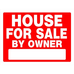 18-in x 24-in House for Sale By Owner Sign