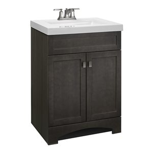 Style Selections Drayden 24-in Single Sink Gray Bathroom Vanity With Cultured Marble Top