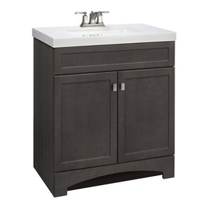 Style Selections Drayden 30-in Single Sink Gray Bathroom Vanity With Cultured Marble Top
