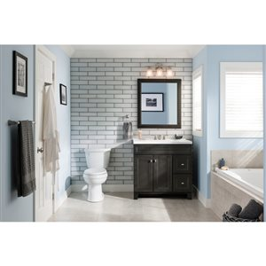Diamond FreshFit Goslin Storm 36-in Transitional Bathroom Vanity