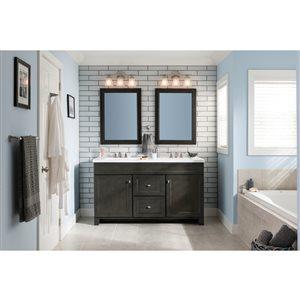 Diamond FreshFit Goslin Storm 60-in Transitional Bathroom Vanity