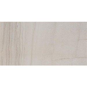 Del Conca 12-In x 24-In Villa Gray Glazed Porcelain Floor Tile