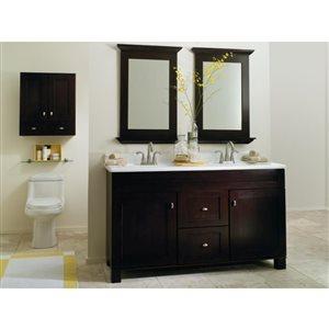 Diamond FreshFit Palencia 28.13-in W x 31-in H x 9.06-in D Espresso Birch Bathroom Wall Cabinet