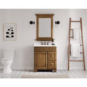 Diamond FreshFit Ballantyne 30-in x 21-in Mocha with Ebony Glaze Traditional Bathroom Vanity